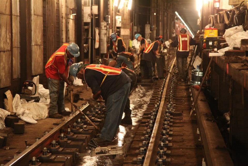 Arrumando o metrô